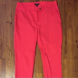 H&M Coral Pink Ankle Pants